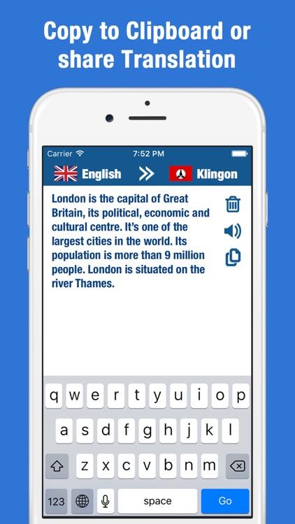 Translator Klingon - Language Translation & Dict screenshot-3