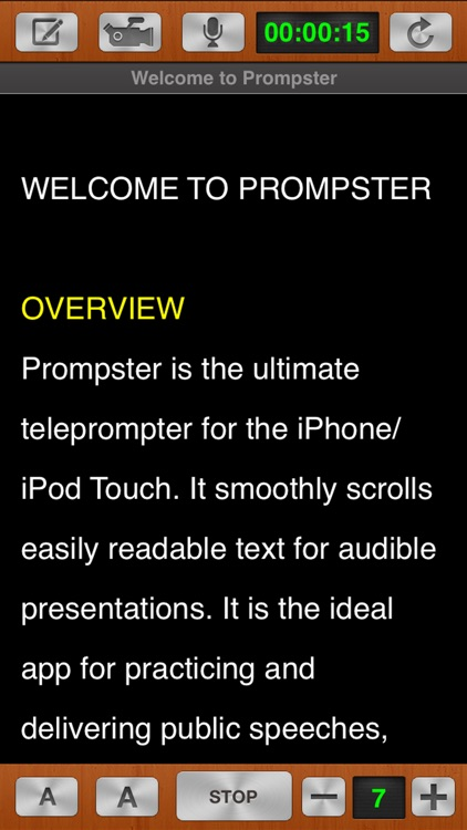Prompster™ - Teleprompter screenshot-4