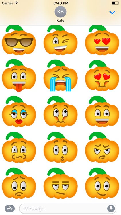 Pumpkin Halloween Emoji Sticker #4