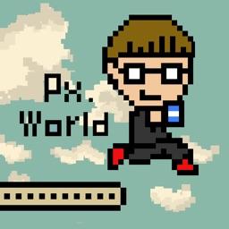 pixel art world - jump action game