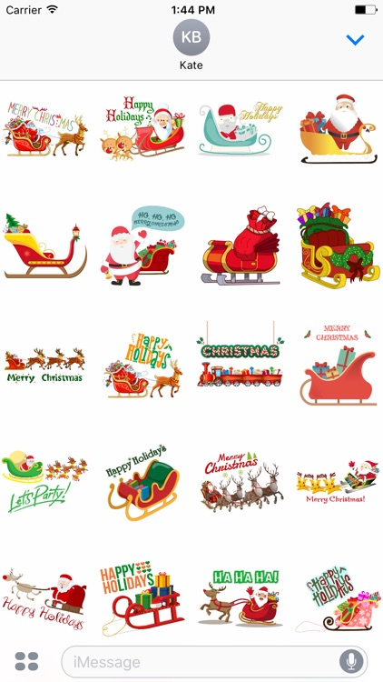 Sleigh Stickers - Christmas Stickers for iMessage