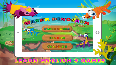 Water Dinosaur Learning - Kids Puzzle Color Pages screenshot one