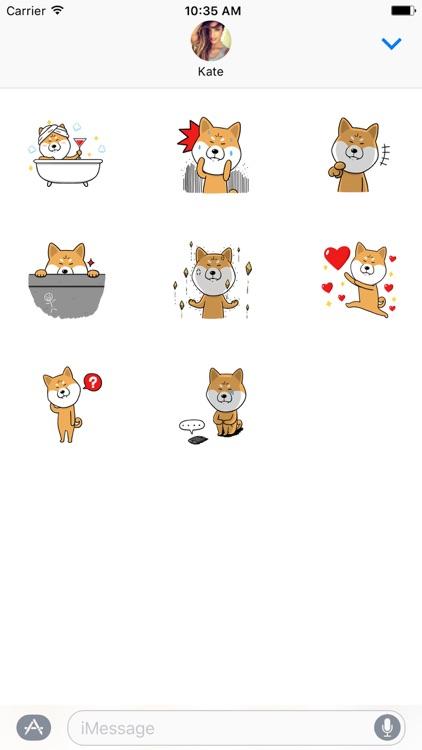Shiba Inu Dog Sticker Pack screenshot-3