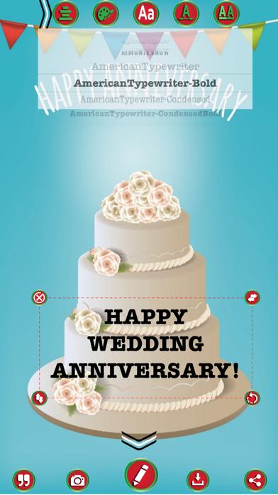 Wedding Anniversary Greetings Maker screenshot three
