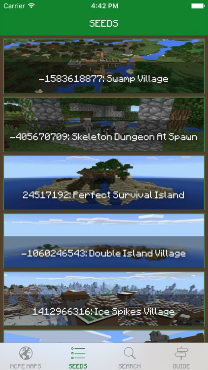 Seeds for Minecraft PE Edition - Free Seeds for Pocket