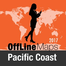 Pacific Coast Offline Map and Travel Trip Guide