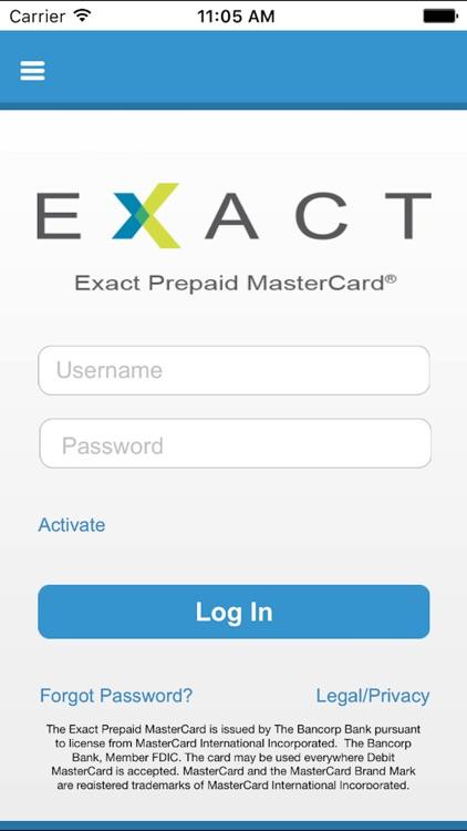 Exact Prepaid MasterCard®