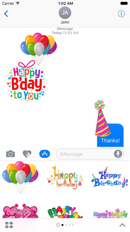 Happy Birthday & Celebration Stickers for iMessage