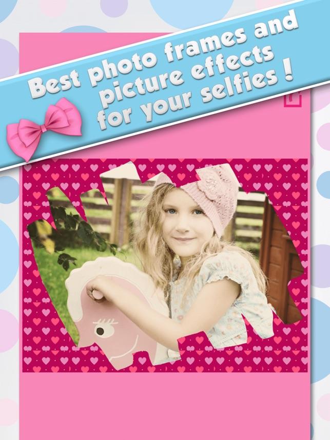 Editor de Fotos para las Niñas - Marcos de Cuadros en App Store