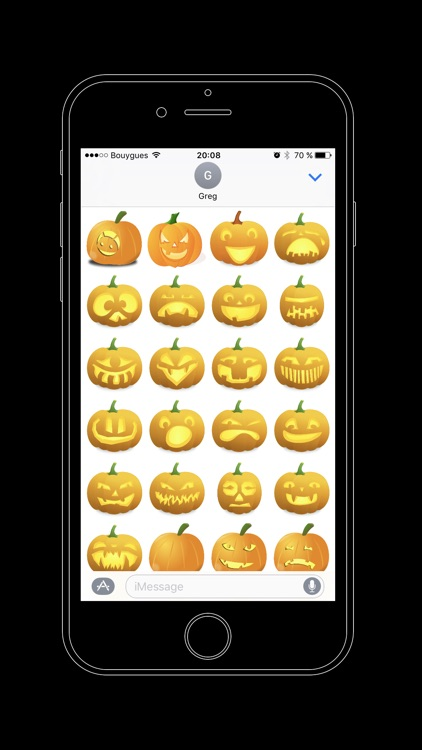 Halloween iCitrouille - Jack O'Lantern Stickers