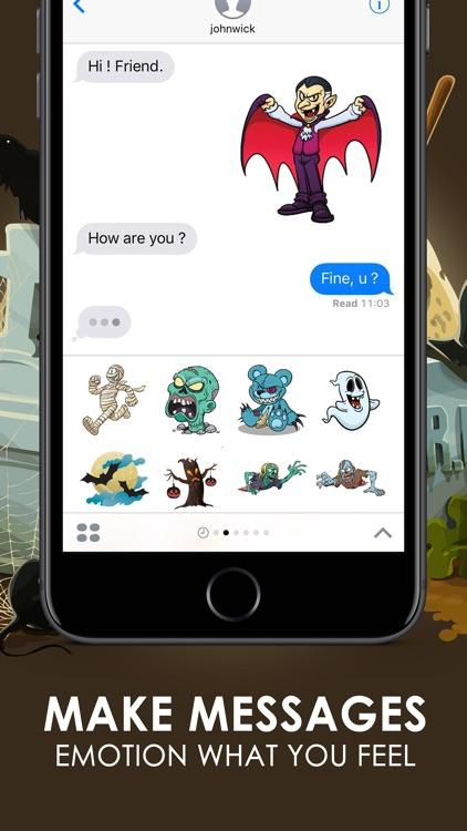 Halloween Emoji Stickers Keyboard Themes ChatStick