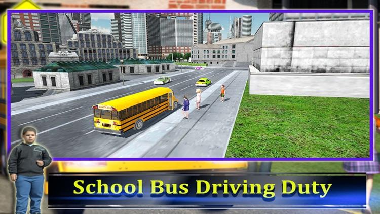 School Bus Driver 3D 2016 screenshot-4
