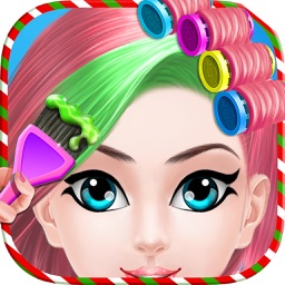 Christmas Princess Hair Salon : Virtual Hair Style