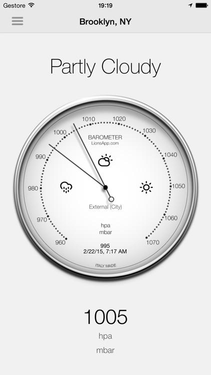 Barometer - Atmospheric pressure