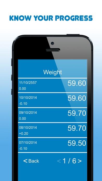 My Body Measurements screenshot three