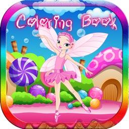 Solve Fairy & Princess Cartoon Coloring Book Kids