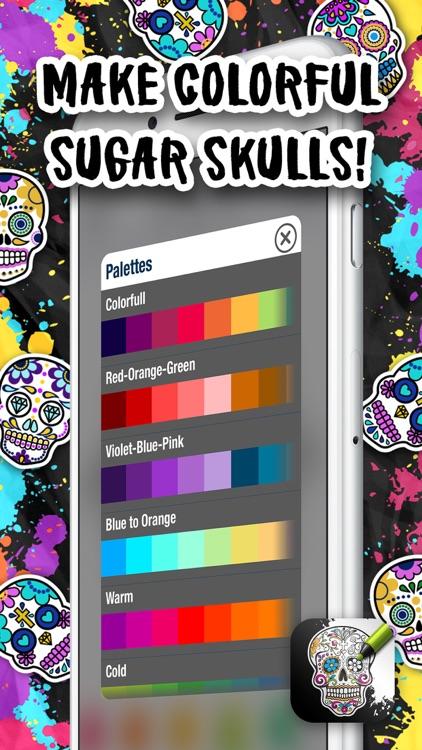 Sugar Skull Coloring Pages screenshot-4