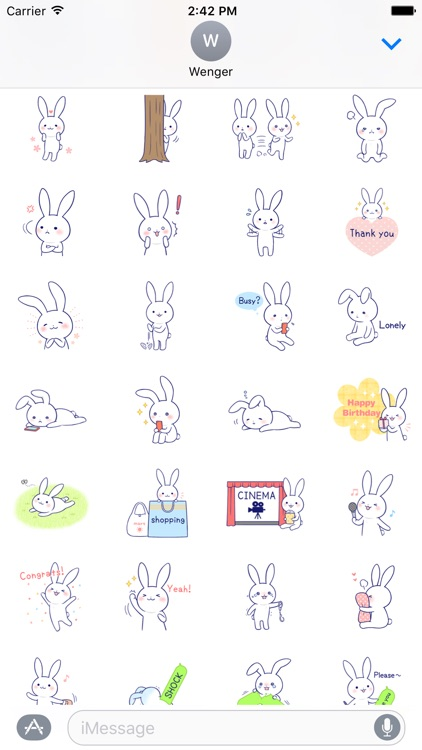 Rabbit Fun Stickers Chat