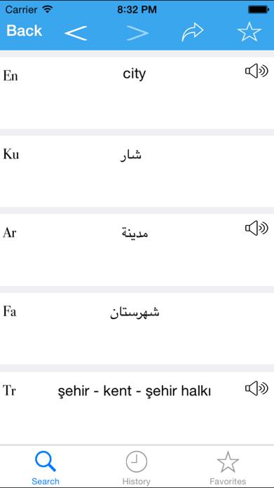 Rebin Dict (English-Kurdish-Arabic-Farsi-Turkish) Screenshot