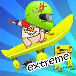 skateboard jumper extreme running slow kids