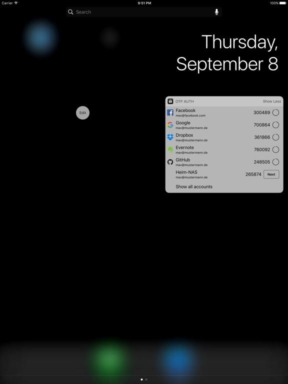 OTP Auth iPad