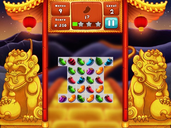 The Lion Dance Match The Fire Crackers Puzzle-ipad-2