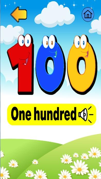 學號1到100 - 免費教育遊戲為孩子和幼兒屏幕截圖3