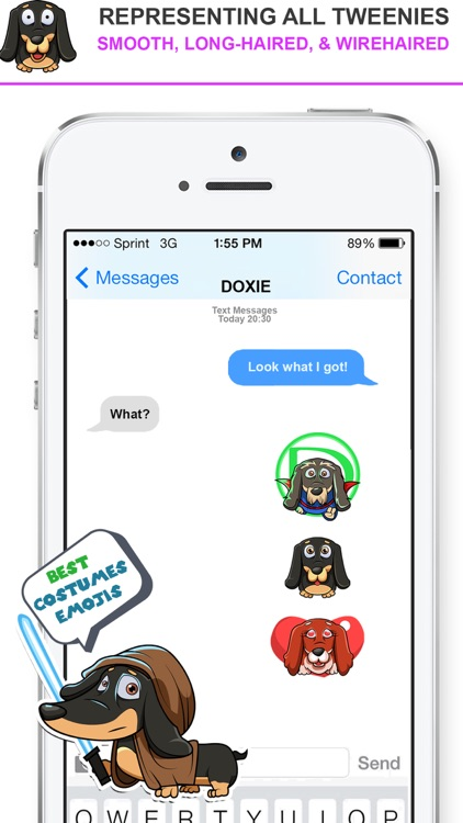 DoxMoji -  Dachshunds Emoji Stickers