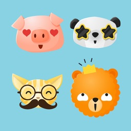 Fun Animals Sticker Pack with Emoji Faces
