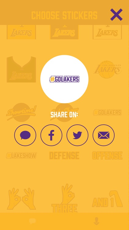 Showtime! Stickers by the Los Angeles Lakers screenshot-4