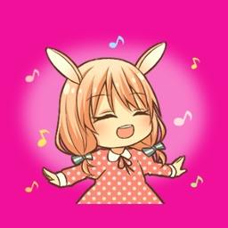 Rabbit Manga Girl - Animated emoji sticker pack