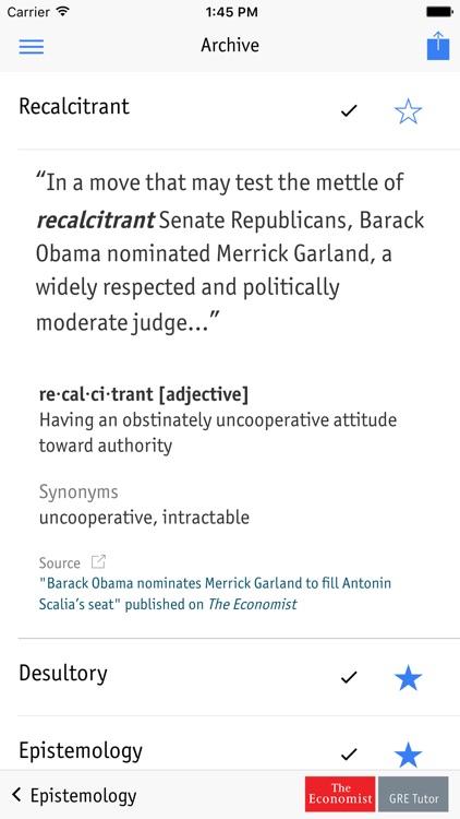 GRE Daily Vocabulary screenshot-3