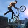 Extreme City Rooftop Free-Style Bike Rider Stunts