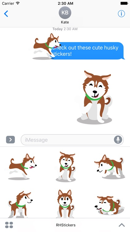 Red Huskies Sticker Pack