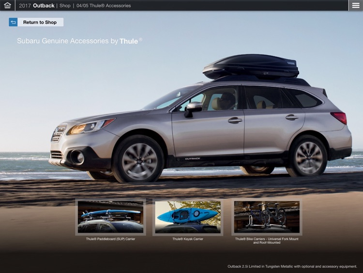 2017 Subaru Outback Guided Tour – eBrochure, trims, specs and more screenshot-4