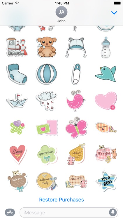 Baby Sticker Set