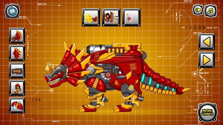 Steel Dino Toy : Triceratops screenshot-4