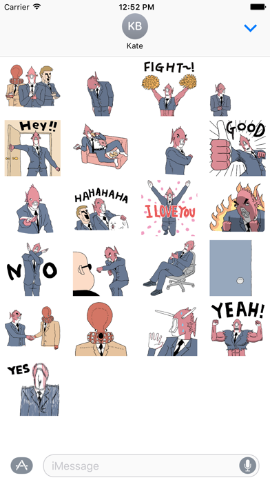 点击获取Business Fish Animated Sticker