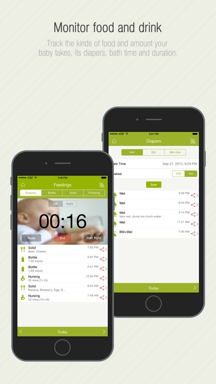 Babycare Tracker - Baby Activities and Growth Log