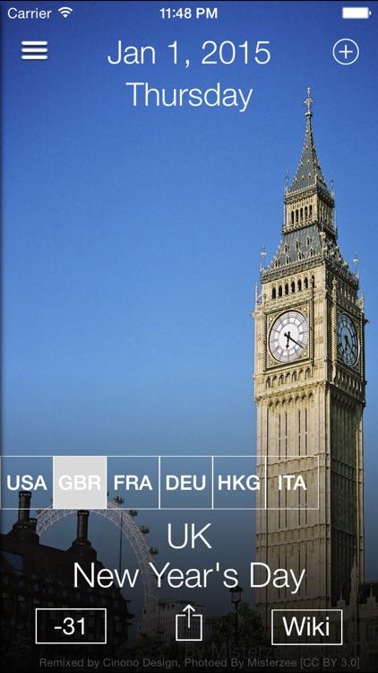 WorldCal - World Calendar Country Public Holiday screenshot-3