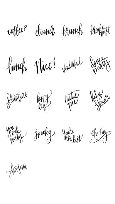 Hello Calligraphy Sticker Pack