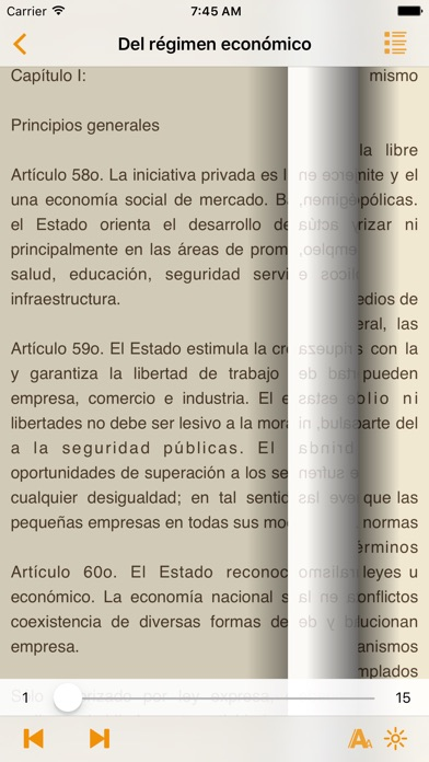 Screenshot for Constitución del Perú in Russian Federation App Store