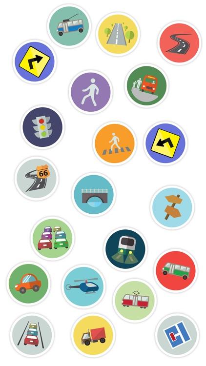 Transport Flat Stickers screenshot-3