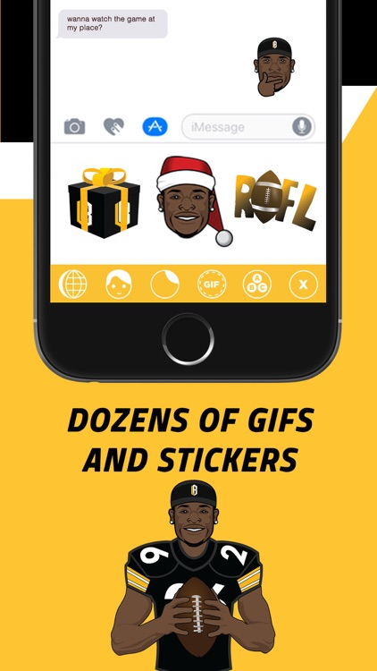 Le'Moji - Official Le'Veon Bell Emoji Keyboard screenshot-2