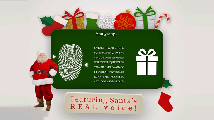 Santa's Naughty or Nice List - funny finger scan