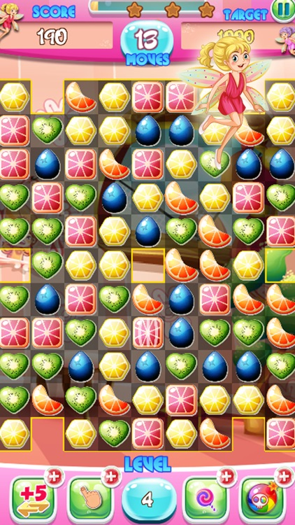 Match 3 jelly fruit crush game