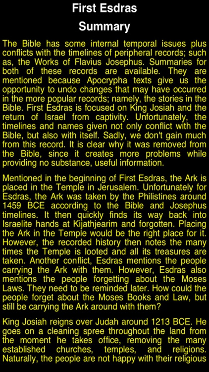 Summary Old Testament Apocrypha (Part 1)
