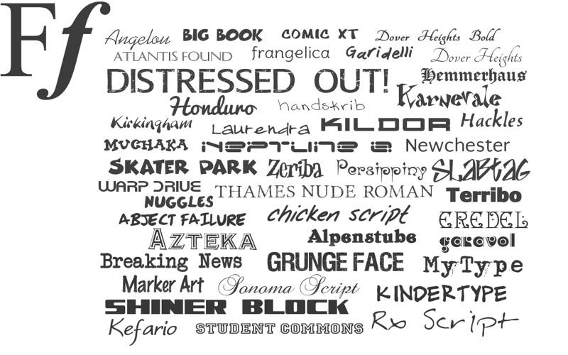 Free Fonts Screenshot
