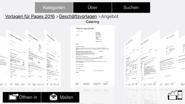 Vorlagen Für Pages Numbers Keynote Ed 2017 Im App Store