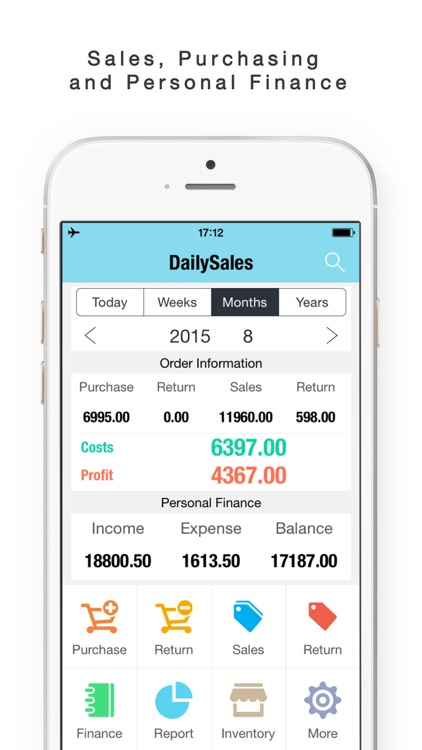 Daily Sales Tracker-Sales Items,Storage, Inventory